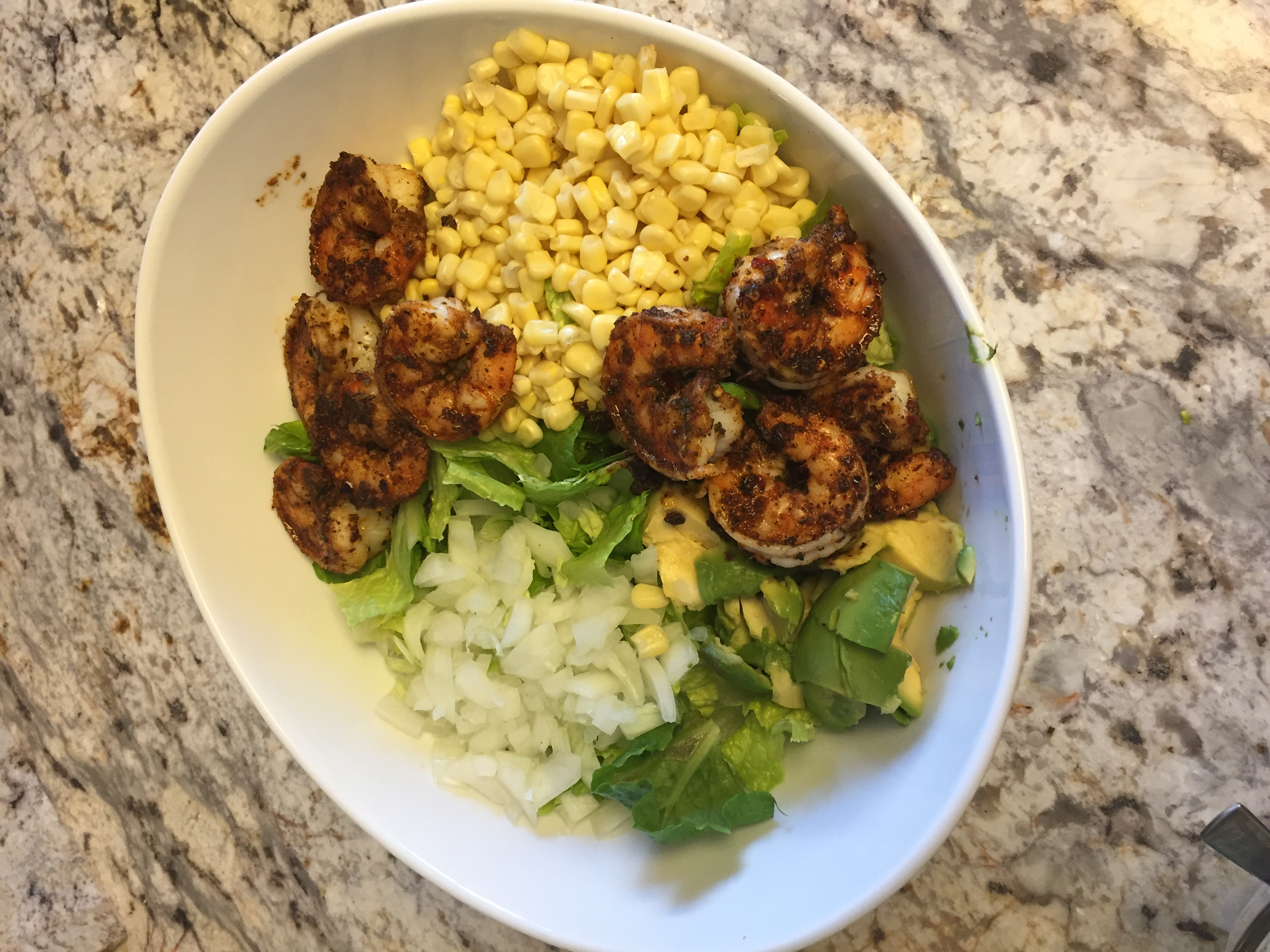Blackened Shrimp Salad