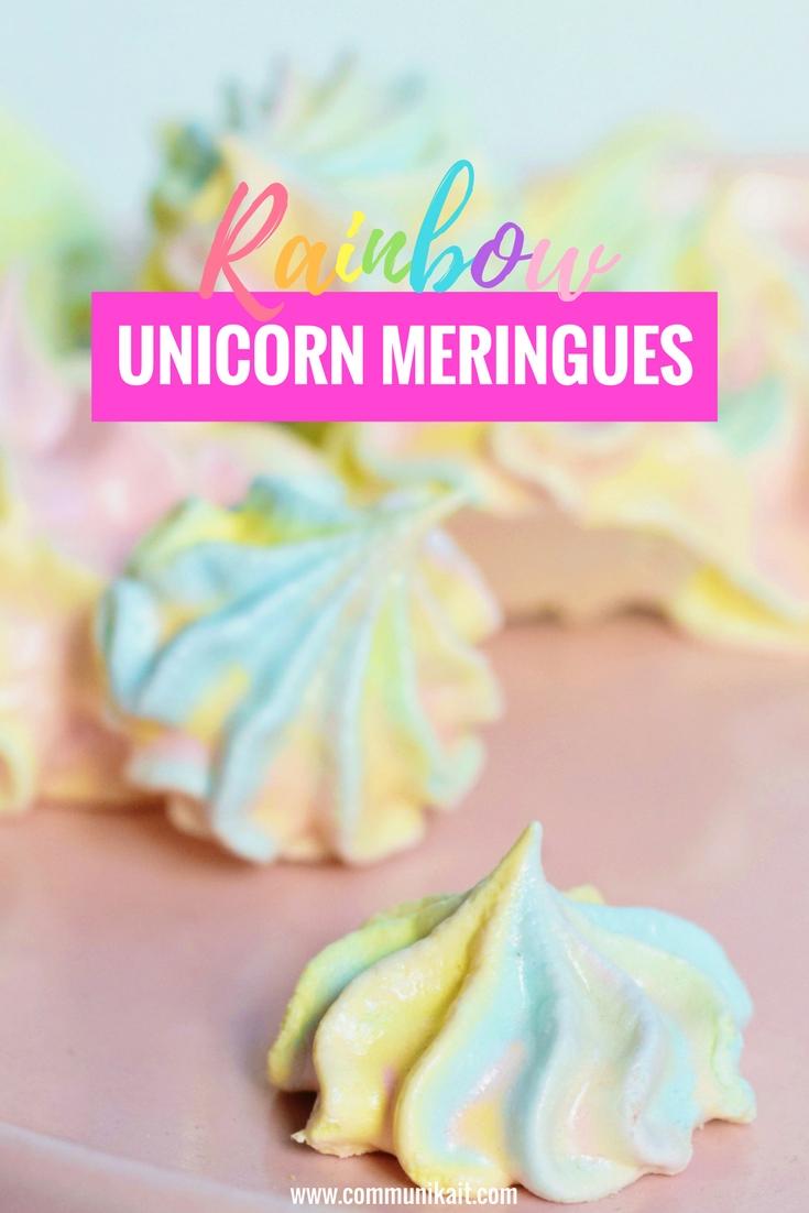 Easy Rainbow Meringues