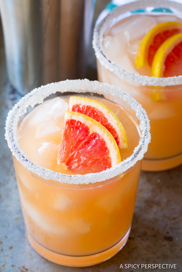 Grapefruit Margarita - 10 Margaritas For Cinco de Mayo