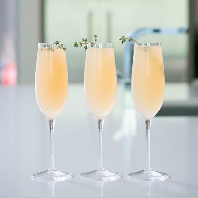 Elderflower Grapefruit Mimosa - Feed Feed