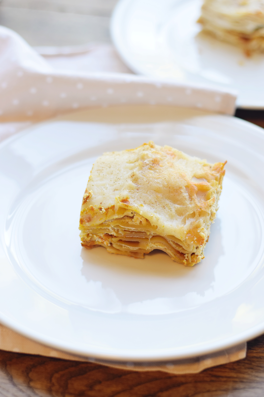 Dairy Free Pumpkin Lasagna - Dairy Free - Gluten Free - Fall Lasagna - Dinner Recipe - Communikait by Kait Hanson