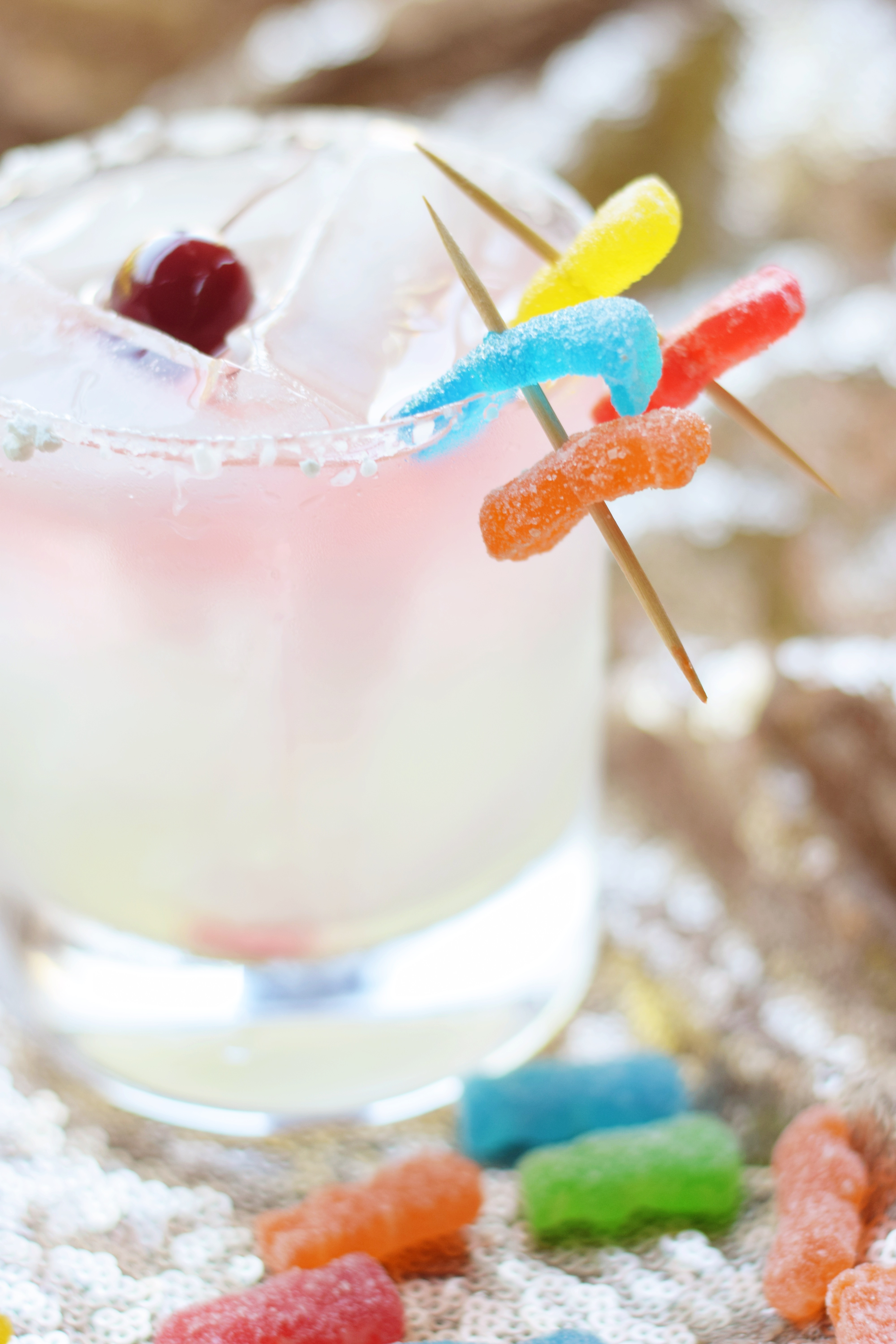 Whiskey Patch - Whiskey Sour - Sour Patch Kids - Candy Cocktail - Halloween Happy Hour - Whiskey Cocktail - Liquor - Whiskey - Happy Hour Idea for Halloween - Halloween Candy - Communikait by Kait Hanson