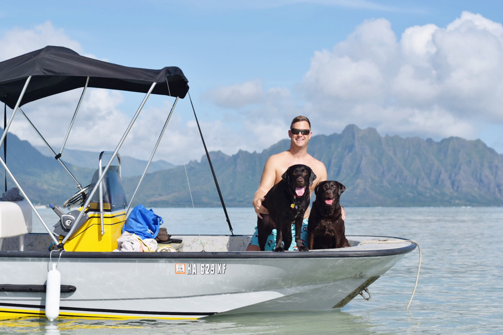 Kaneohe Sandbar - Oahu- Hawaii - Chocolate Labs - Our Weekend - Communikait by Kait Hanson