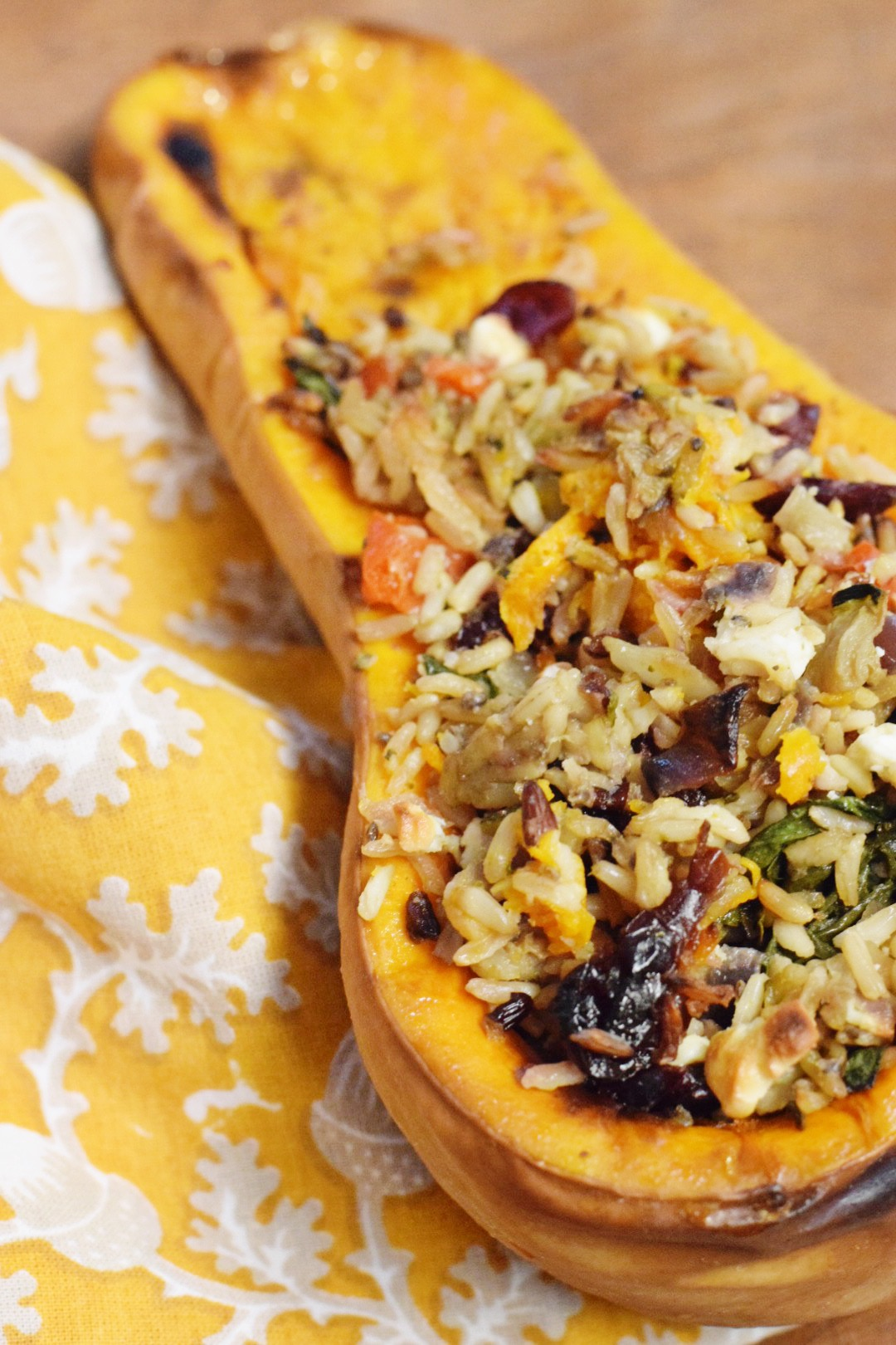 Roasted Stuffed Butternut Squash - Butternut Squash Recipe - Baked Butternut Squash For Fall - Fall Recipe - Gluten Free Recipe - Vegetarian Recipe - Vegetarian Fall Recipe - Fall Dinner Recipe - Communikait by Kait Hanson