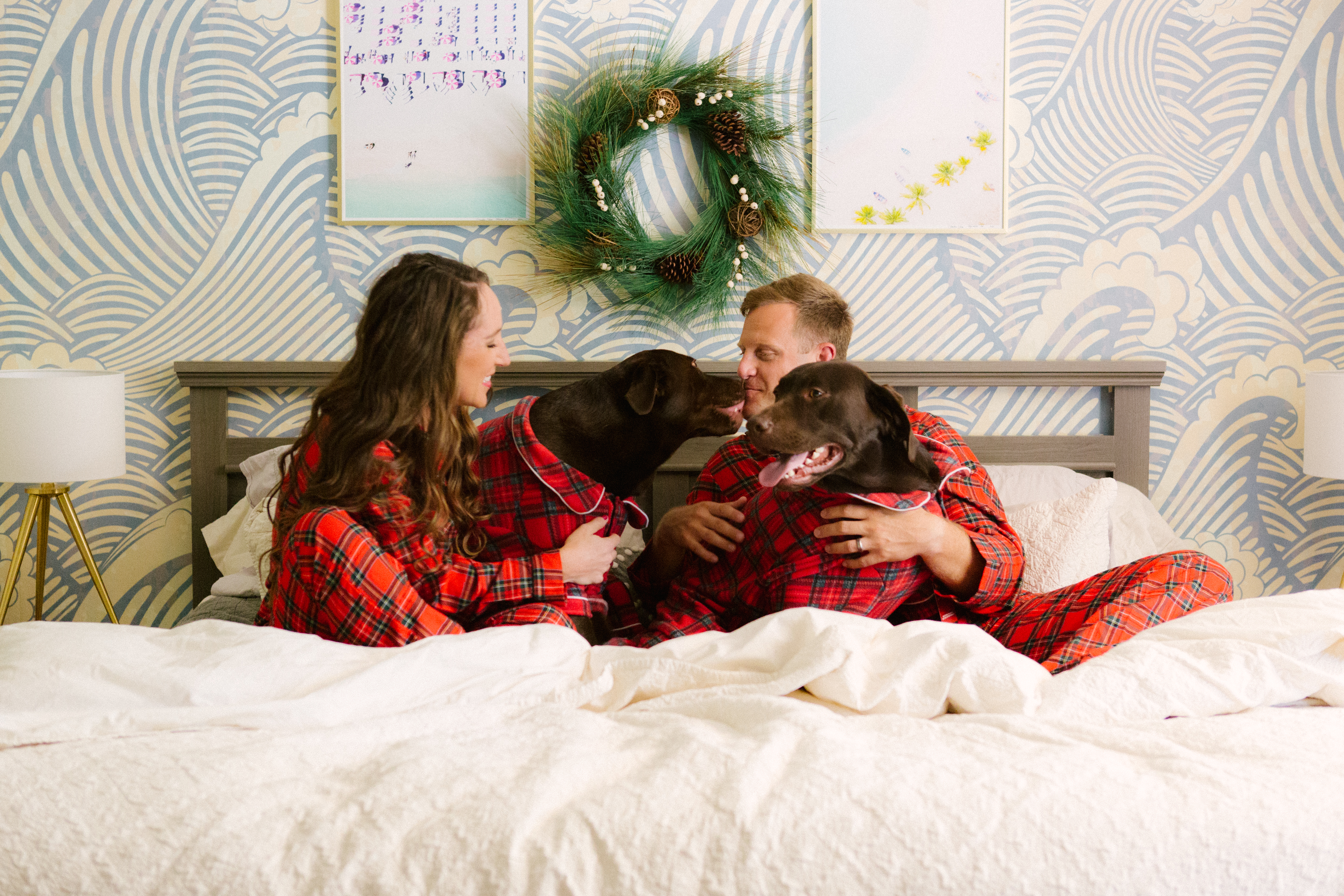 Family Christmas Pajamas With Dog.Our 2017 Christmas Card Reveal