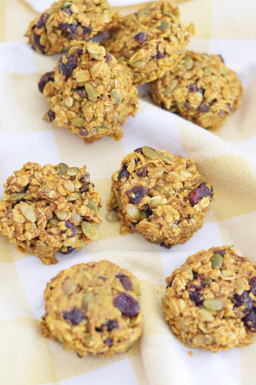 Pumpkin Cranberry Breakfast Cookie - Healthy Breakfast Idea - Breakfast Cookie Recipe - Healthy Breakfast For Kids - Breakfast Ideas - Healthy Snack - Easy Gluten Free Breakfast - Breakfast Option On The Go
