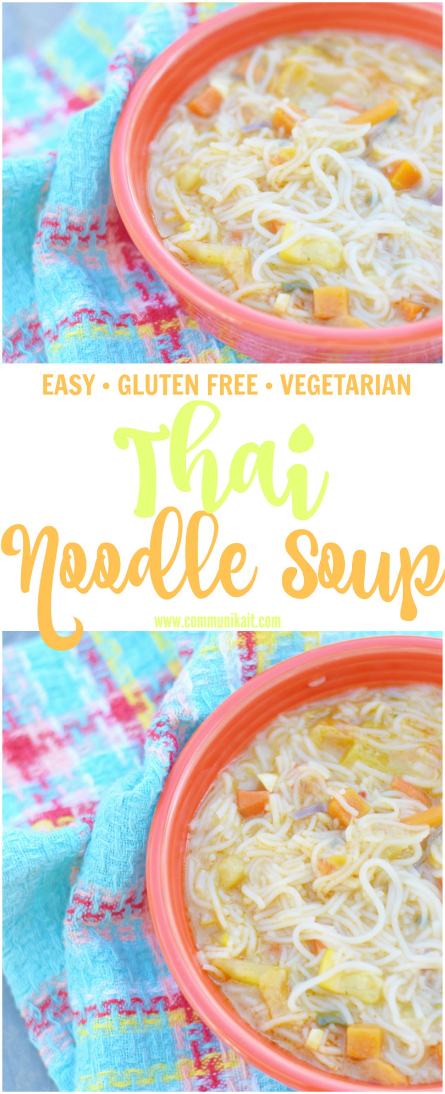 Thai Noodle Soup - Thai Noodle Soup is the perfect recipe for kicking a sickness, warming up on a cold day or just to enjoy a soup with a ton of flavor! | Thai Noodle Soup Recipe - Easy Thai Noodle Soup - Thai Noodle Soup Ingredients - Thai Curry Noodle Soup