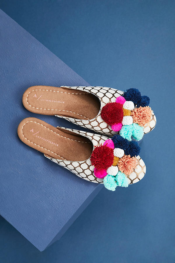Pom Pom Slides - Anthropologie Shoes - Communikait by Kait Hanson