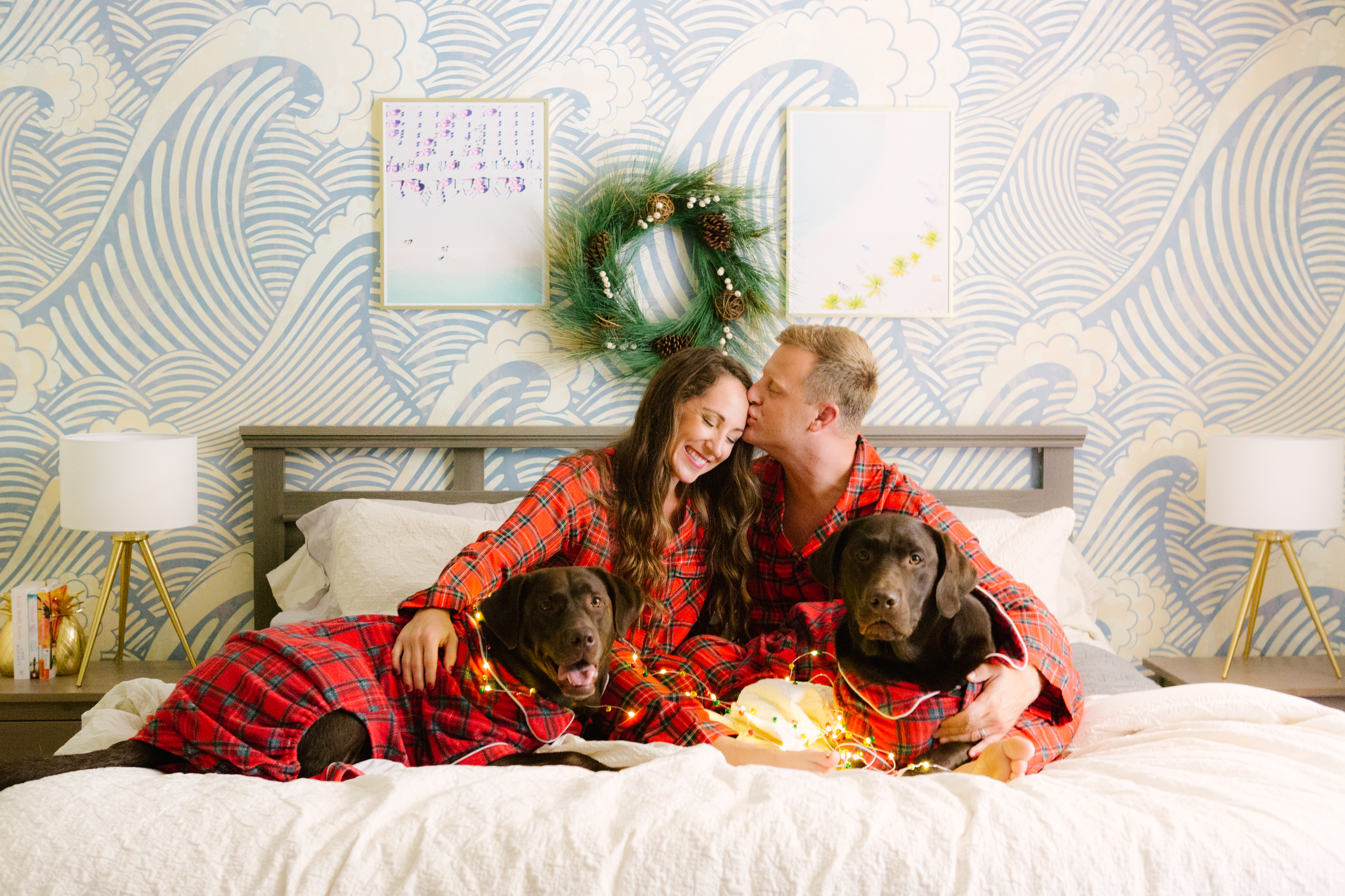 Christmas Pajamas Photoshoot.Our 2017 Christmas Card Reveal