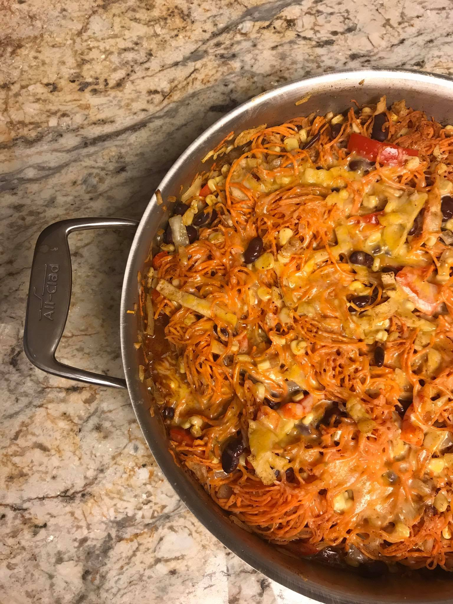Spiraled Sweet Potato Enchilada Skillet - Meal Planning + What We Ate Last Week - Communikait by Kait Hanson