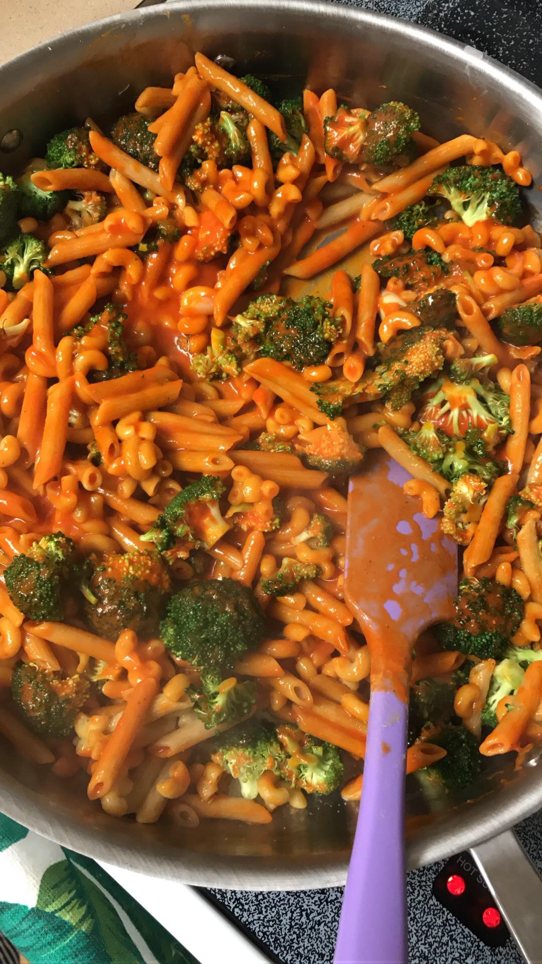 Green Lentil Pasta with Roasted Red Pepper and Broccoli - Meal Planning + What We Ate Last Week - Communikait by Kait Hanson