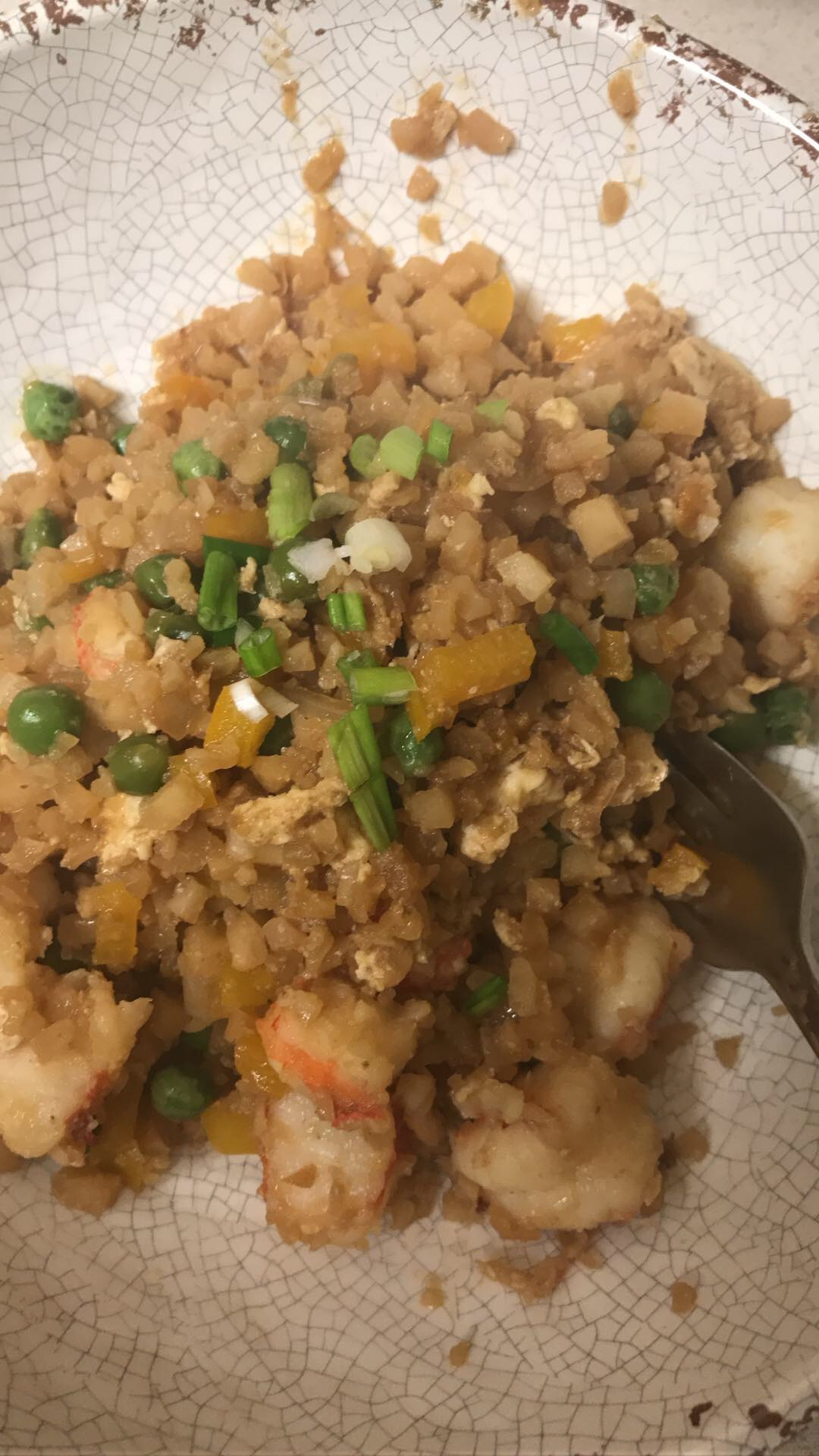 Shrimp Fried Cauliflower Rice - Meal Planning + What We Ate Last Week - Communikait by Kait Hanson