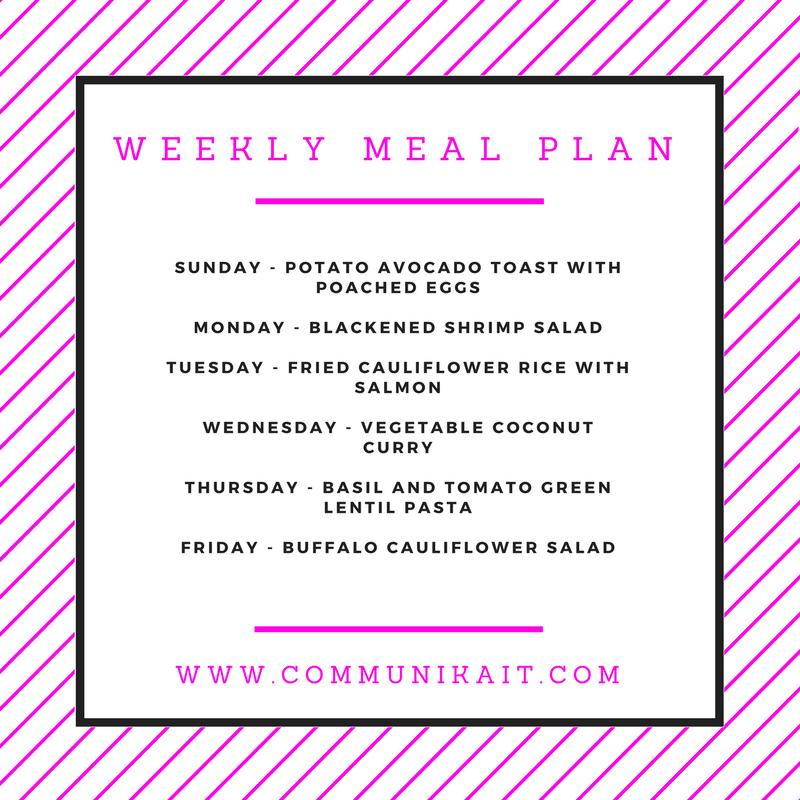 Meal Planning + What We Ate Last Week - Communikait by Kait Hanson