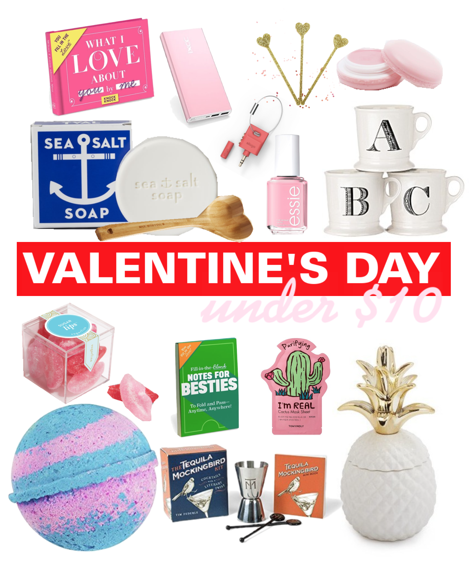 Valentine's Day Gift List: Under $10! - Valentine's Day Gift Ideas - Valentine's Day Gifts For Her - Gifts For Him - Gift Ideas Under $10 - Holiday Gift Ideas - Communikait by Kait Hanson