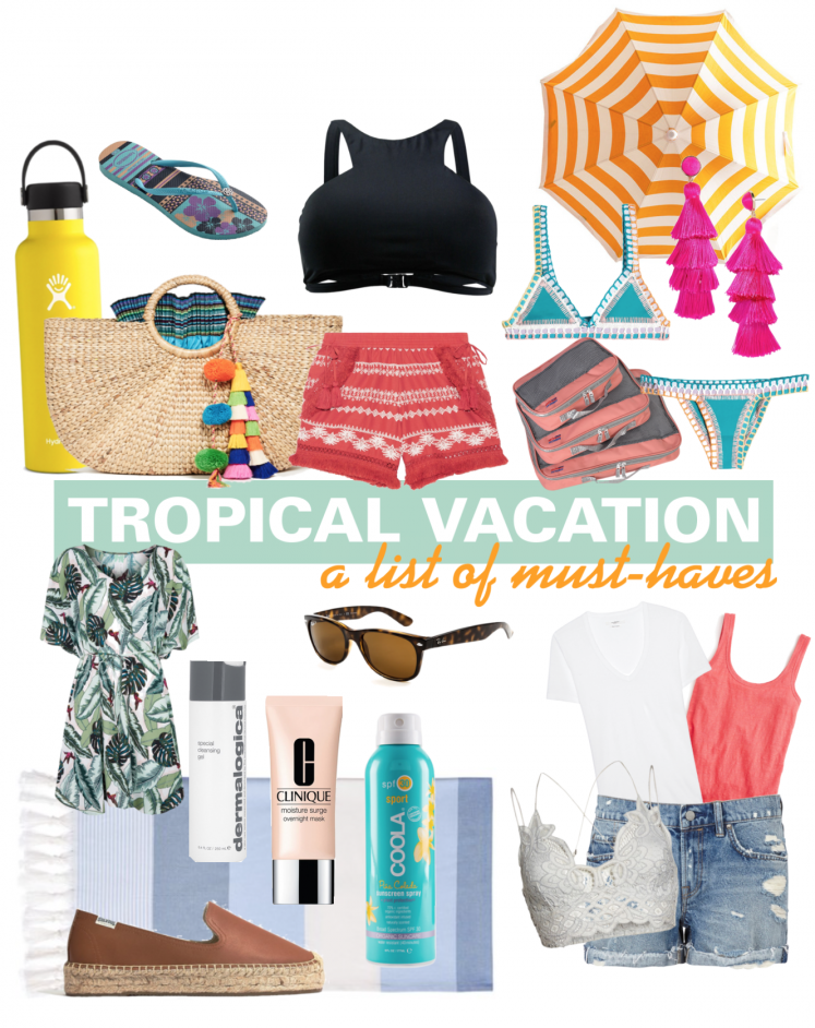 Tropical Vacation Packing List
