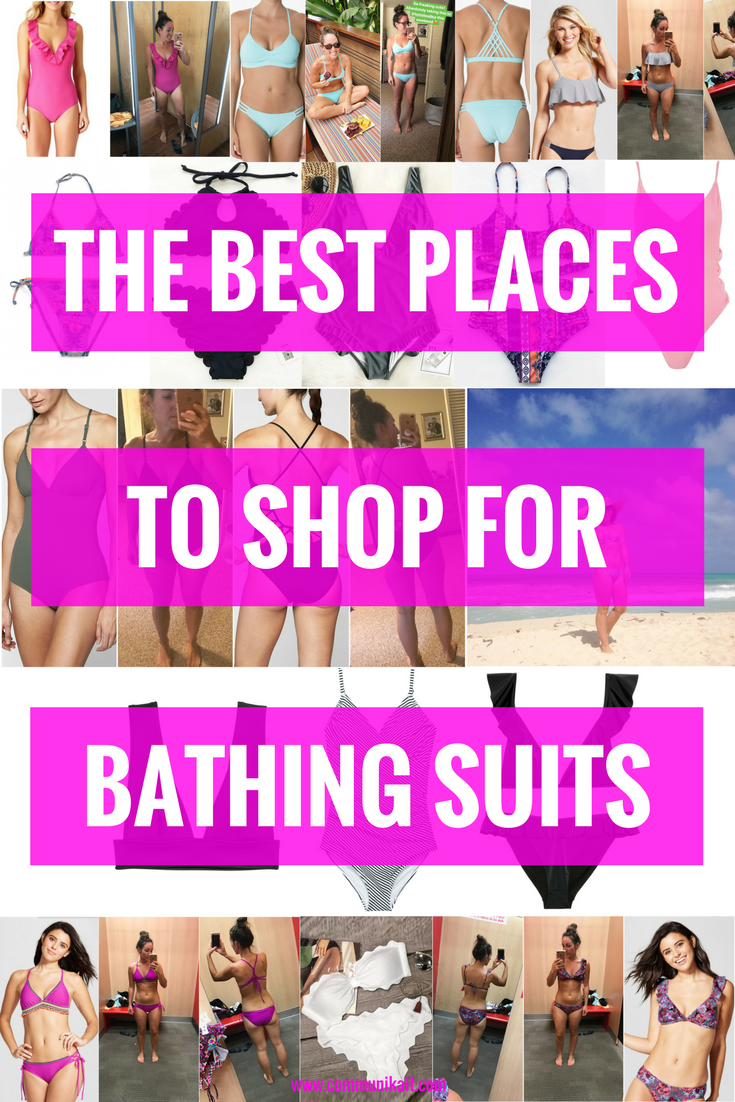 The Best Places To Buy Swimsuits - Summer Swimwear - Best Swimwear - Best Swimwear To Buy Online - Flattering Swimsuits Guide - Communikait by Kait Hanson