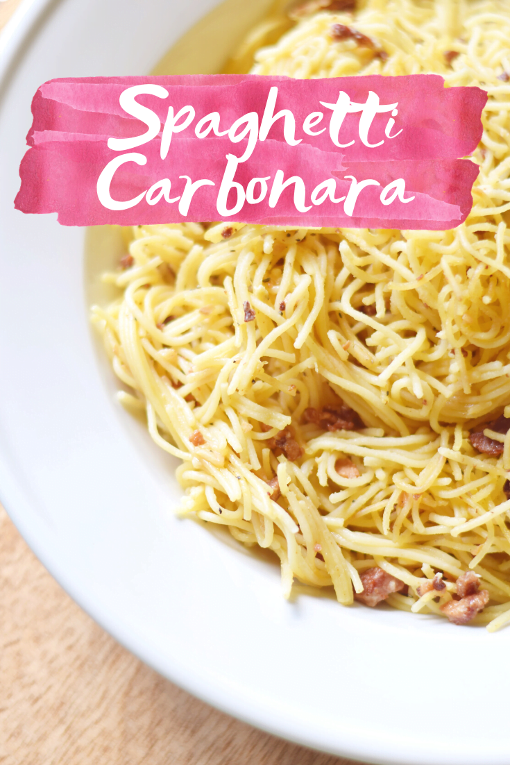 Homemade Spaghetti Carbonara Recipe - An easy date-night-in recipe that comes together quickly, but tastes completely gourmet! | Spaghetti Carbonara Recipe - Spaghetti Alla Carbonara - Spaghetti Carbonara