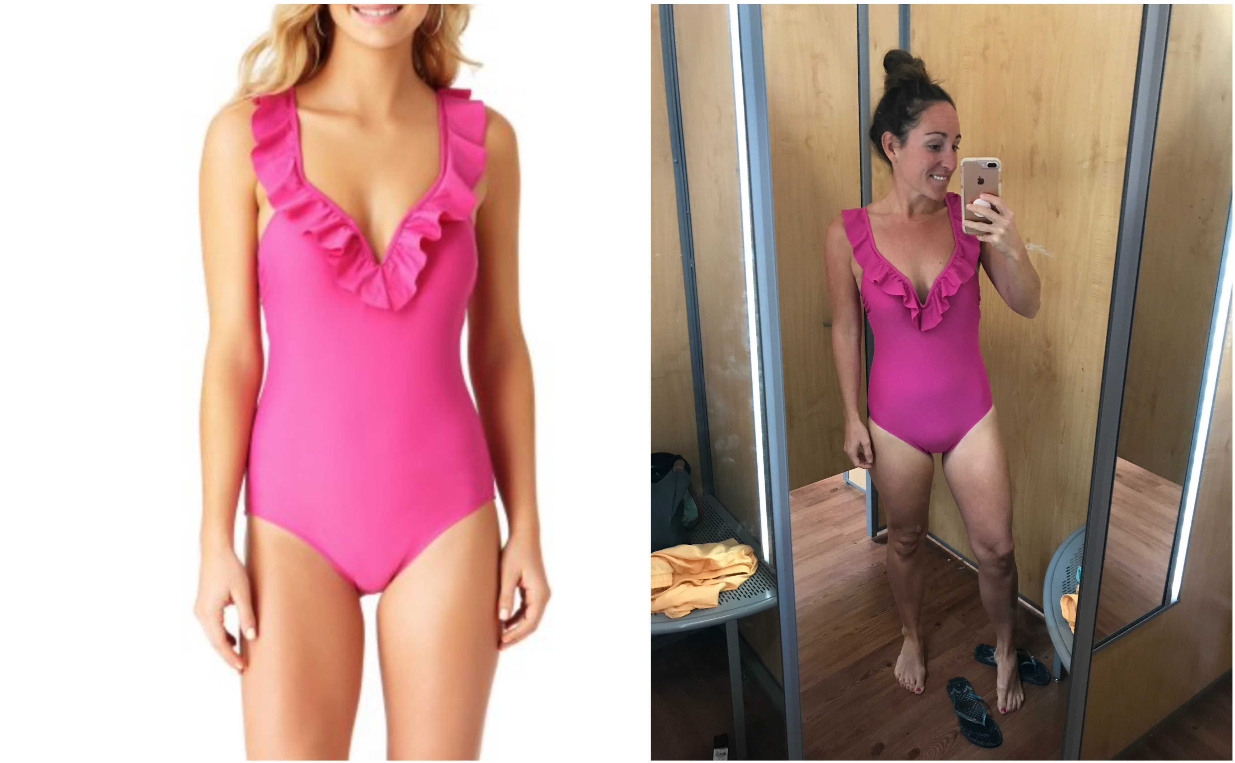 Walmart Pink Swimsuit- The Best Places To Buy Swimsuits - Summer Swimwear - Best Swimwear - Best Swimwear To Buy Online - Flattering Swimsuits Guide - Communikait by Kait Hanson