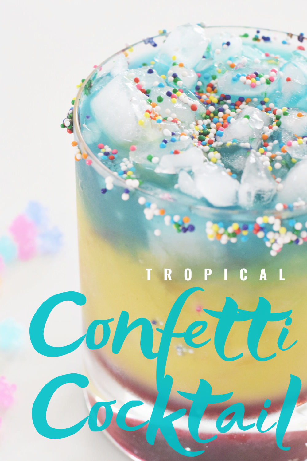 Tropical Confetti Cocktail