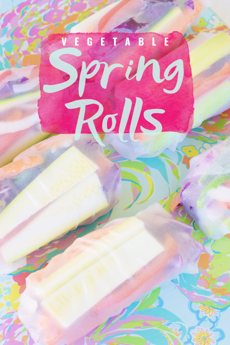 Easy Rainbow Vegetable Spring Rolls