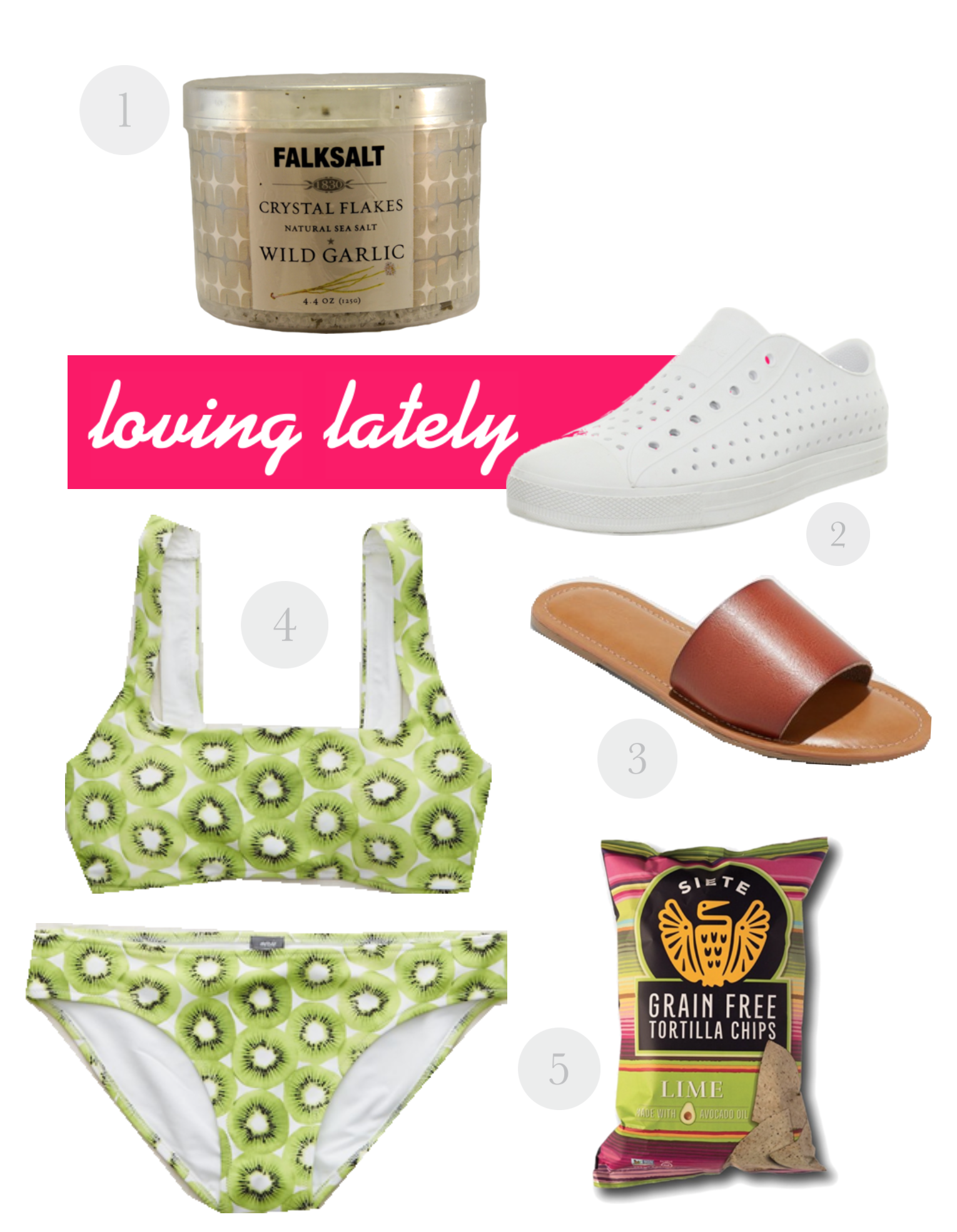 Loving Lately - Native Shoes - Siete Foods - Target Sandals - American Eagle Swim - Communikait by Kait Hanson