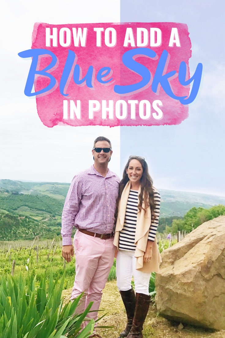 HOW TO ADD A BLUE SKY IN PHOTOS