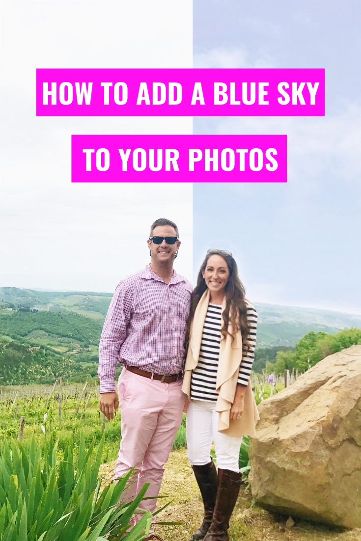 How To Make A Cloudy Sky Blue Using Snapped - Snapseed Photo Editing - Editing Photos Using Snapseed - iPhone photo editing apps - Easy photo editing on your phone - Communikait by Kait Hanson