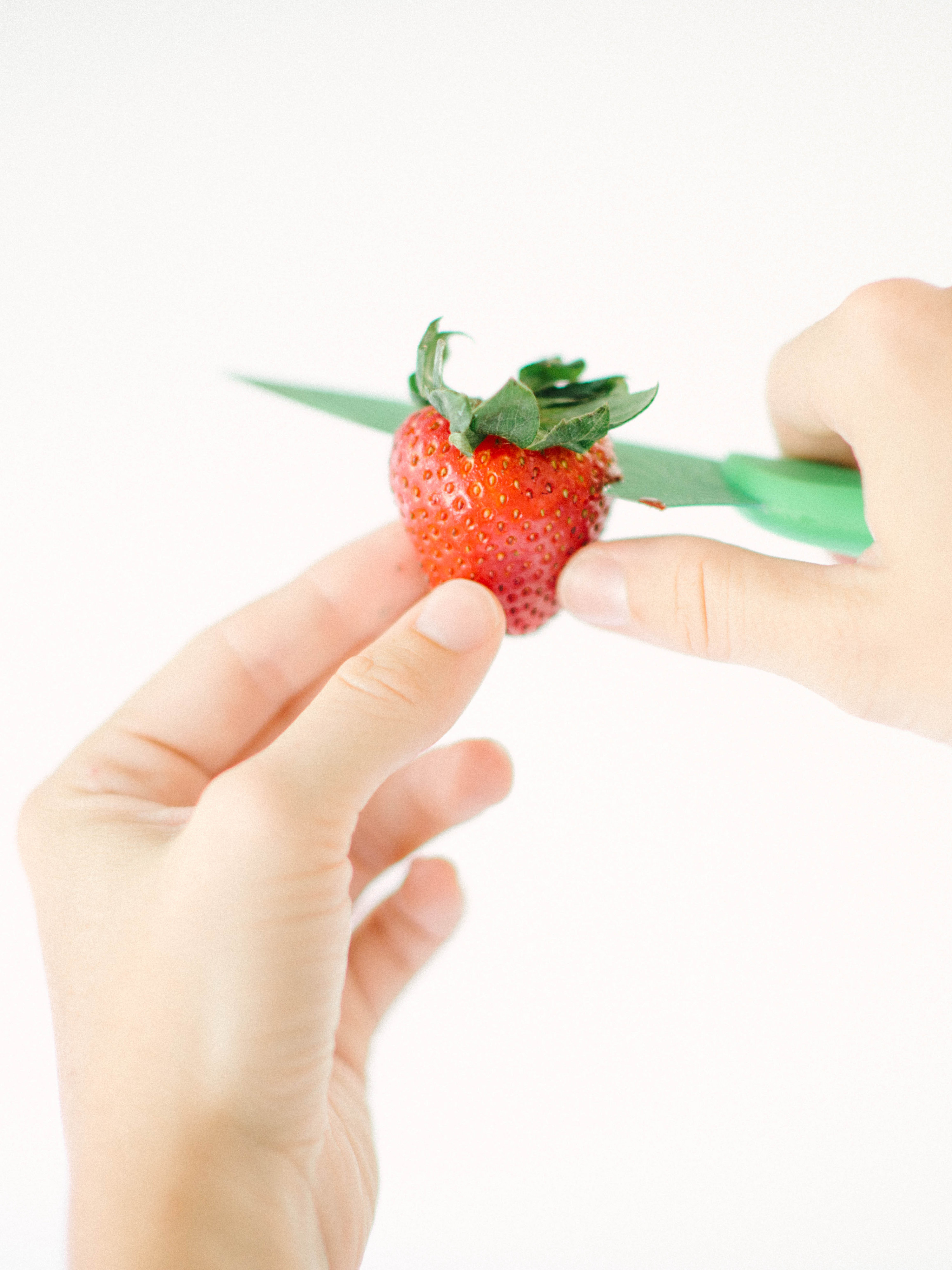 Dairy Free Cheesecake Stuffed Strawberries - Communikait by Kait Hanson #dairyfree #dessert #dairyfreecheesecake #summer #strawberryrecipe