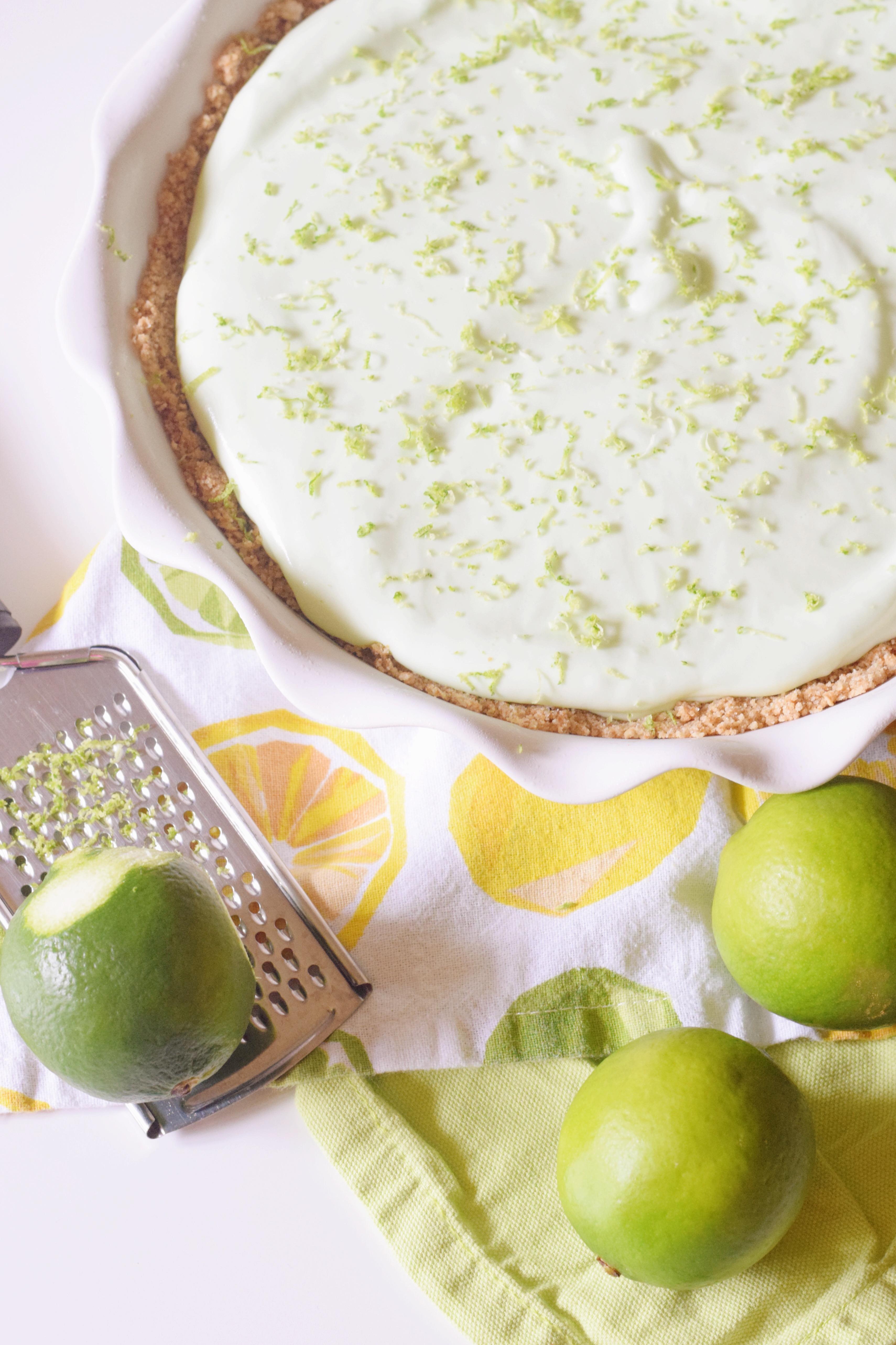 No Bake Margarita Pie - Pretzel Crust - Gluten Free - Dairy Free - Frozen Dessert - Summer Dessert - Margarita Dessert Recipe - Easy Summer Dessert - Summer Dessert For A Party - Frozen Dessert