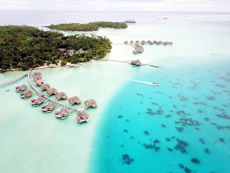 21 Drone Photos of Overwater Bungalows In Tahiti