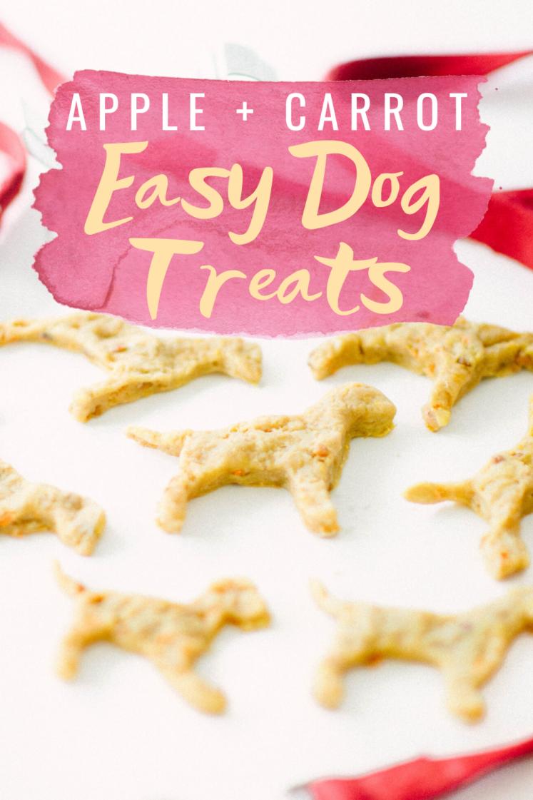 Easy Apple + Carrot Dog Treats