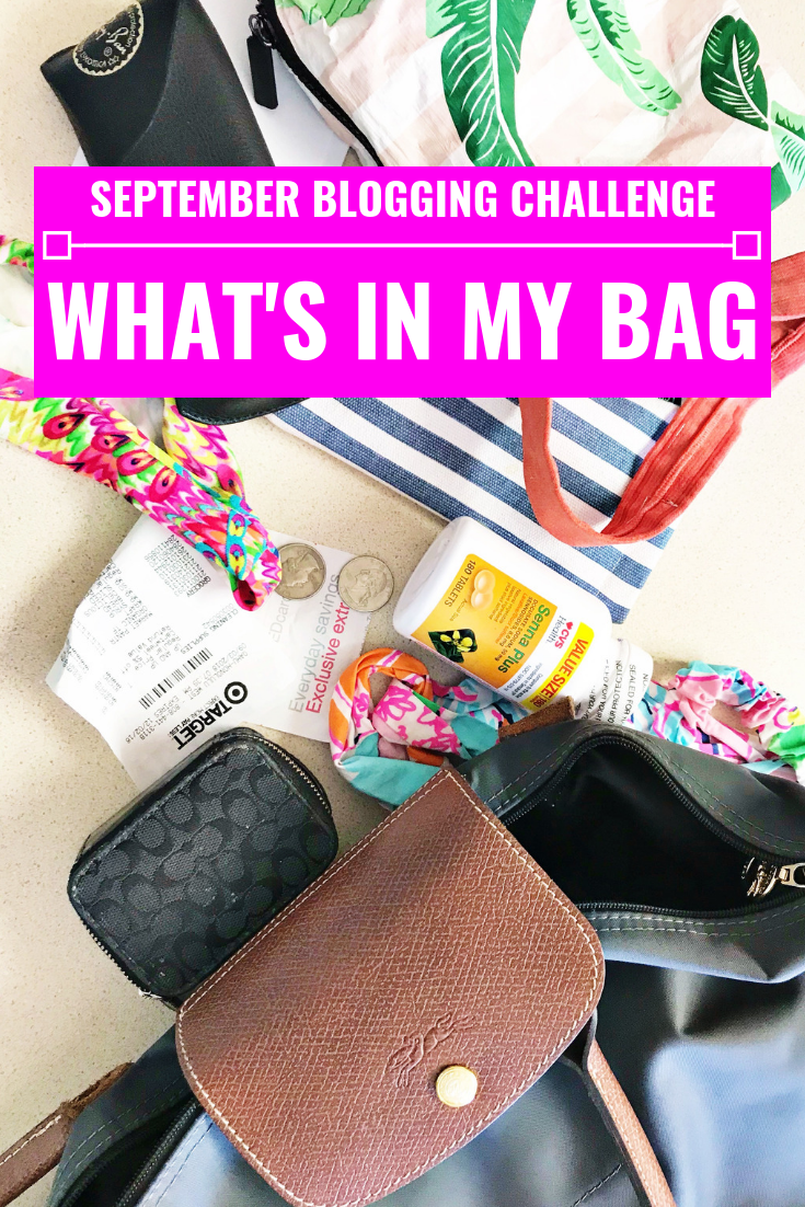 What's In My Bag - September Blogging Challenge - Communikait by Kait Hanson