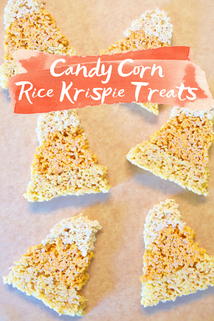 Candy Corn Rice Krispie Treats - Candy Corn Desserts - Desserts With Candy Corn - Candy Corn Dessert Recipes - Candy Corn Dessert Ideas - Rice Krispie Treats - Rice Krispie Treats Recipe - Rice Krispies for Halloween - Rice Krispies Holiday - #dessert #ricekrispies #halloween #fall
