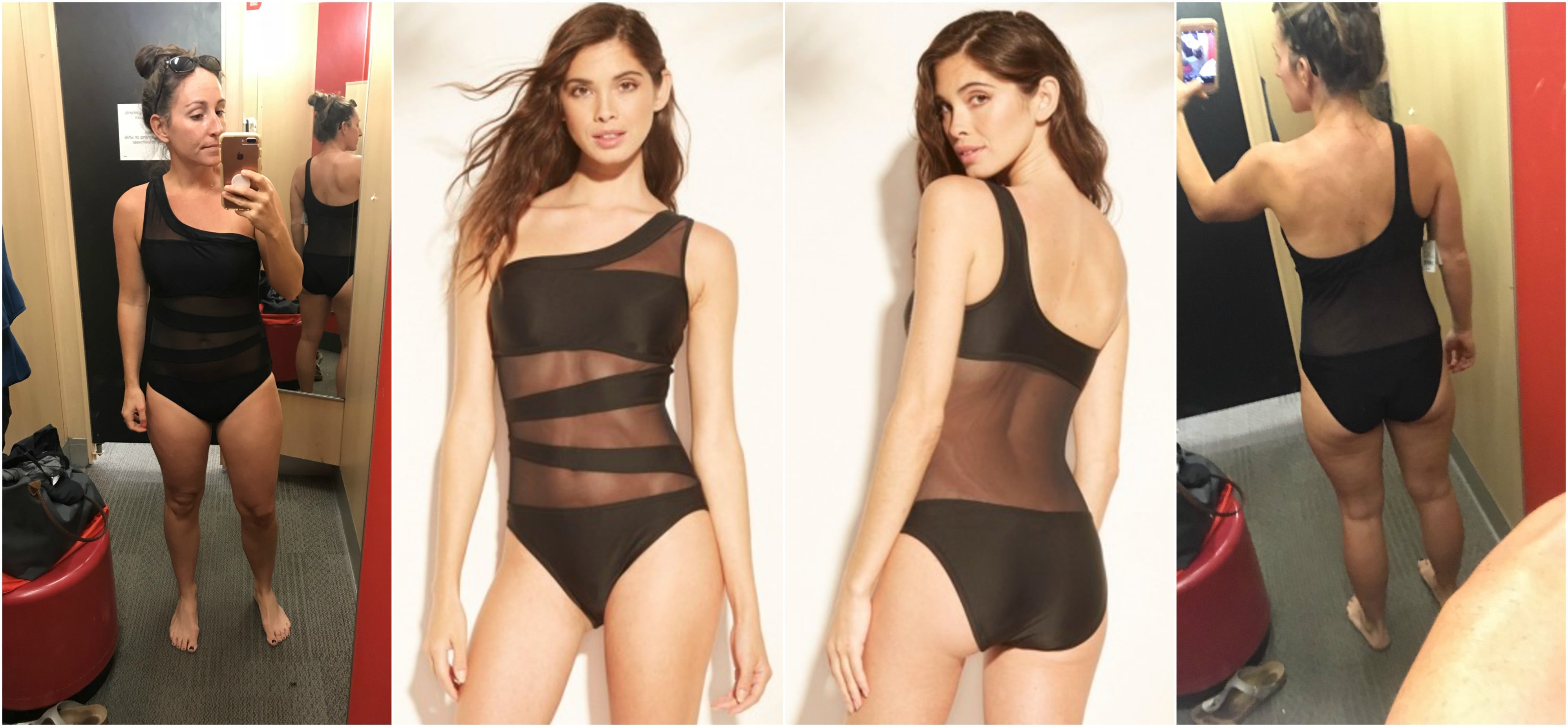 91449c64b06 Black Mesh One Piece Swimsuit - THE OFFICIAL GUIDE TO TARGET SWIMWEAR 2019  - Target Swimsuits