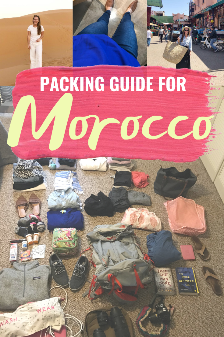 MOROCCO PACKING LIST - A full packing list for traveling through Morocco from Marrakech to the Sahara in March! | Morocco Packing List - Packing List For Morocco In March - What to pack for Morocco - What to pack for a trip to Morocco - Tips for traveling to Morocco - Morocco Packing in a backpack - How to pack in a backpack for two weeks - North Face Packs - Packing Cubes - Best Packing Cubes - How to use packing cubes - #Morocco #Travel #PackingList