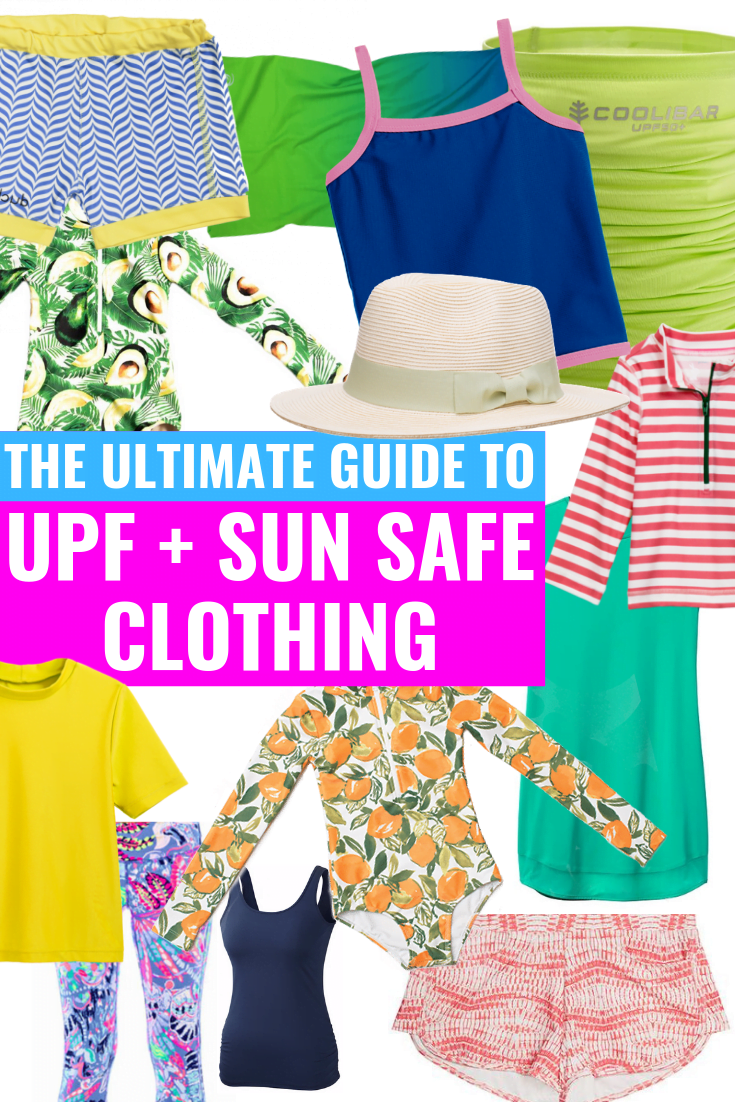 THE ULTIMATE GUIDE TO UPF SWIM + SUN SAFE CLOTHING - Covering everything you need to know about UPF swimwear and sun safe clothing options this summer! | UPF Clothing - Guide to UPF swimsuits - sun safe clothing - sun safe swim - Mott 50 - Carve Designs - Athleta - Lilly Pulitzer - Coolibar - J. Crew - Primary - UPF 50 Swim - UPF 50 Clothing