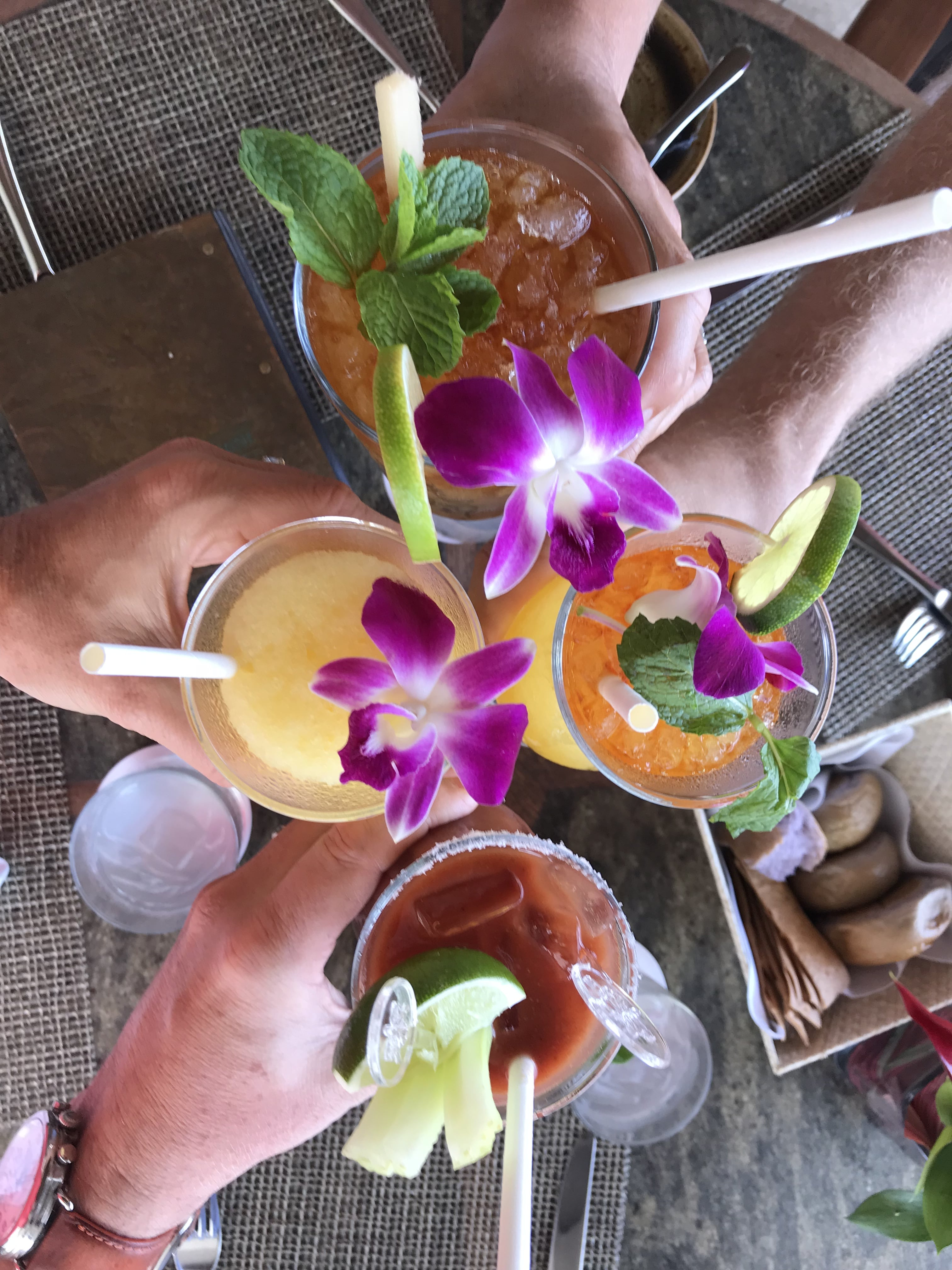 Eating At Halekulani's Restaurant House Without A Key, 4 tropical cocktails in Hawaii