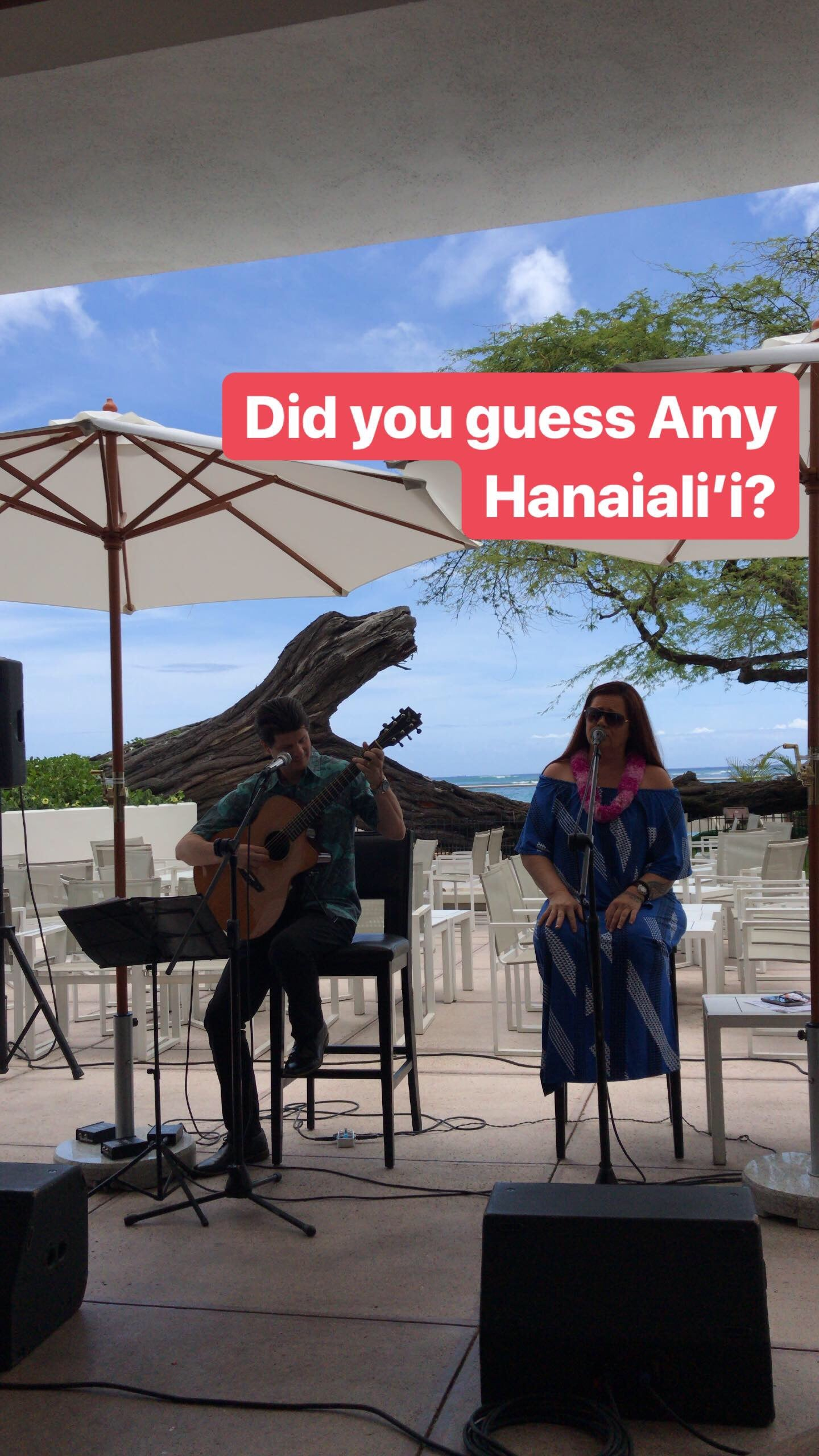 Eating At Halekulani's Restaurant House Without A Key, GRAMMY-nominee Amy Hānaialiʻi Gilliom performing with Jeff Peterson in Hawaii