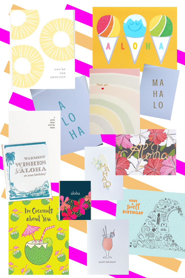 Best Places To Buy Greeting Cards - Best Greeting Card By Hawaii Designers - Nico Made Hawaii - Bradley Lilly - Locali Creative - Miemiko