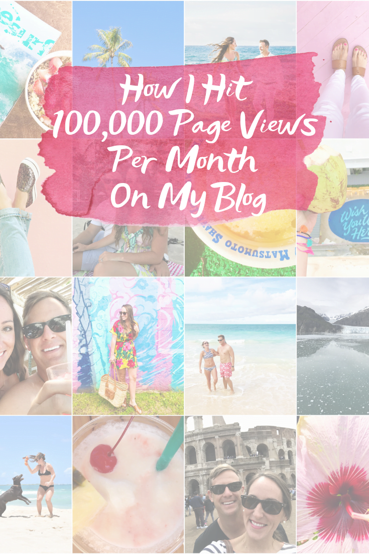 How I Hit 100,000 Page Views Per Month On My Blog - Sharing every detail for how I eventually hit 100,000 page views (or more) per month + continue to grow! - Blogging SEO - How To Start A Blog - Blogging Tips - Pageviews - Page Views