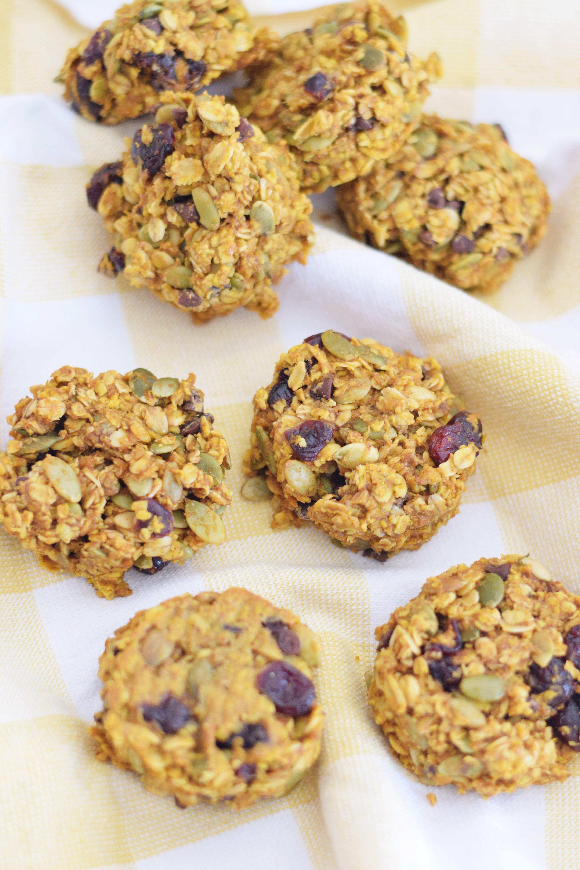 Pumpkin Cranberry Breakfast Cookies
