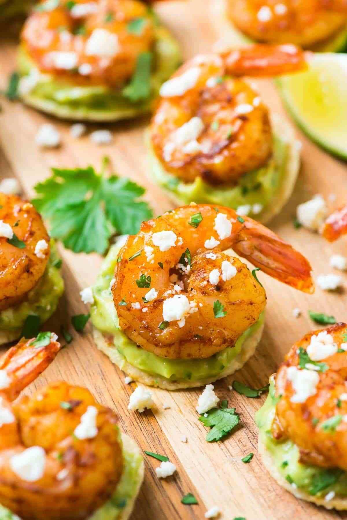 Shrimp Guacamole Bites