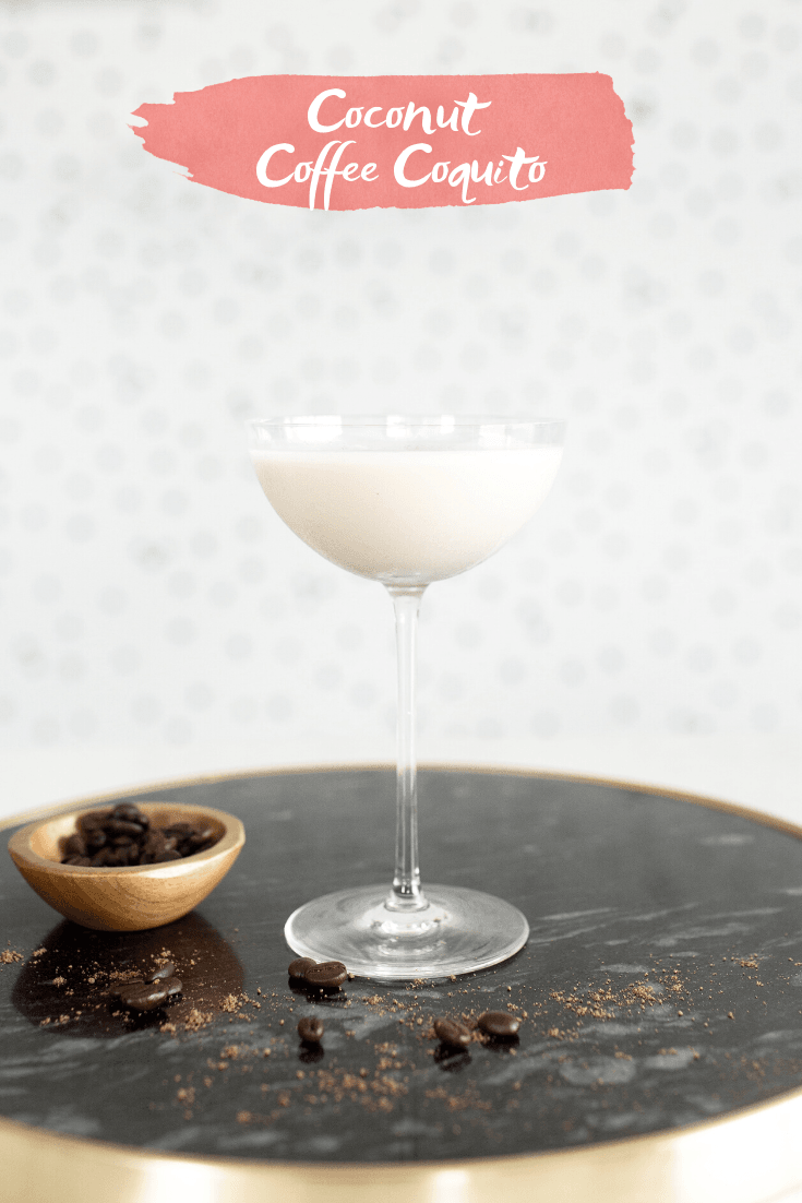Coconut Coffee Coquito With Kōloa Rum - A delicious twist on the popular seasonal cocktail, Coquito, using Kōloa Kauaʻi Coffee Rum! | Coffee Coquito - Coffee Coquito Recipe - Dairy Free Coquito - Holiday Cocktail Recipe