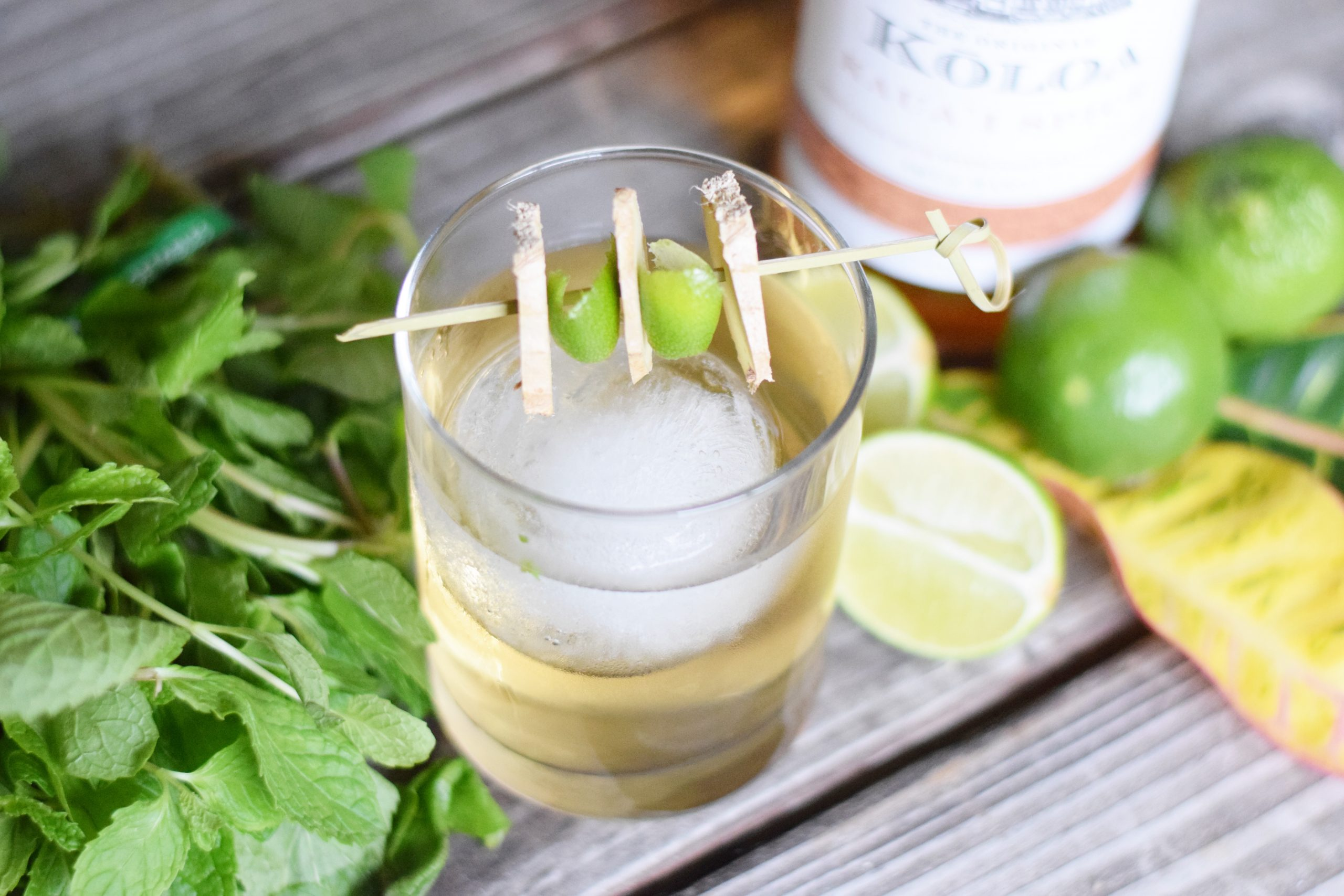 Spicy Ginger Mule Cocktail With Kōloa Rum — A refreshing twist on a classic Moscow Mule featuring Kōloa Spiced Rum, local ginger beer and infused with hints of mint and lime! | Moscow Mule Recipe - Ginger Beer Cocktail Recipes - Ginger Beer Cocktail - Cocktail with Kōloa Rum - Ginger Mule recipe