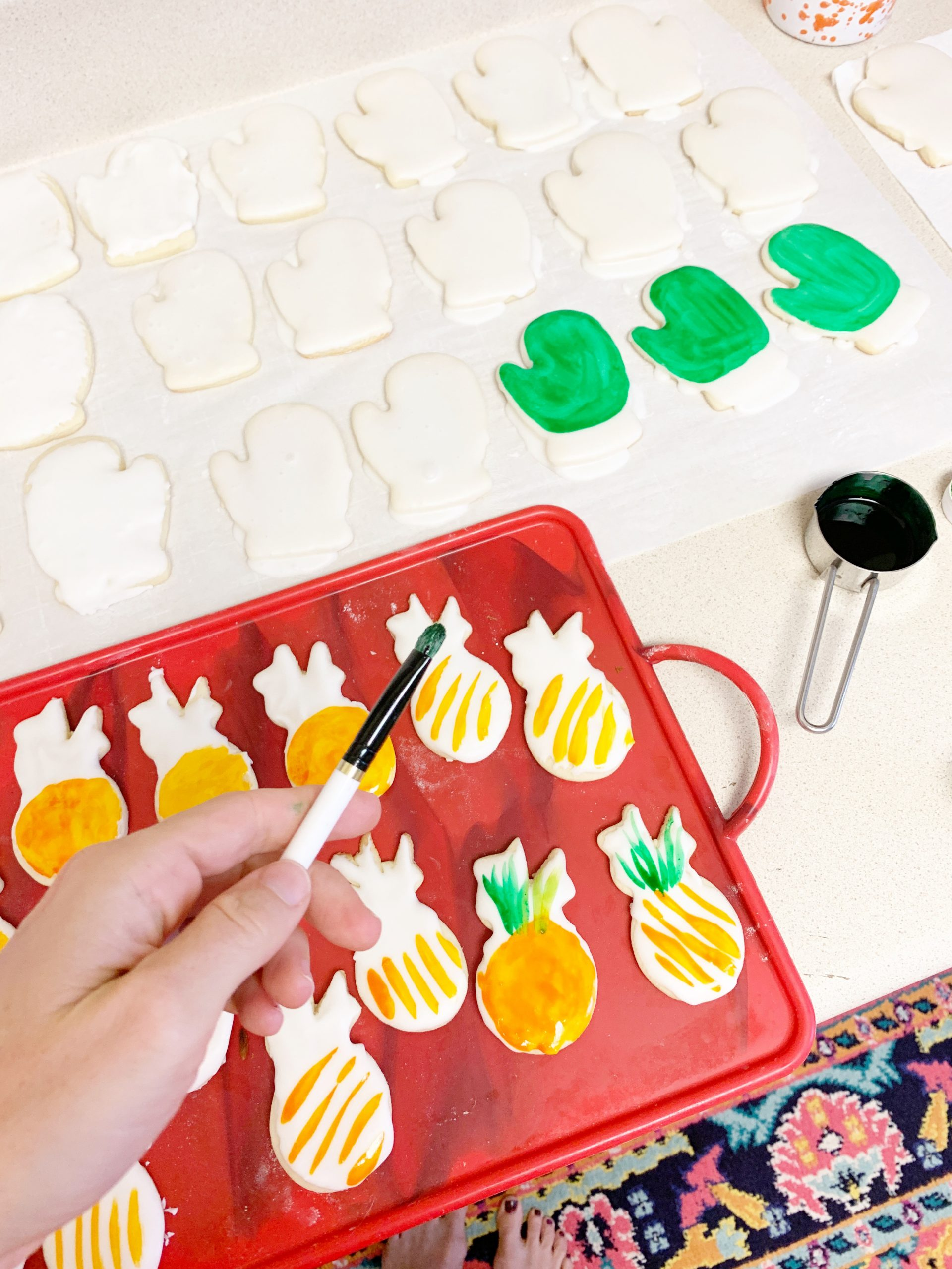 Painted Sugar Cookies - Almost too beautiful to eat! Here's how to make hand-painted sugar cookies at home for any holiday or occasion! | Painted Sugar Cookies - Hand Painted Sugar Cookies | How To Paint Sugar Cookies | Easy Painted Cookies | Watercolor Icing | Painted Cookies