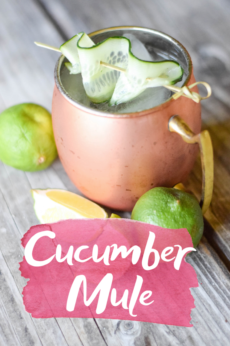 Cucumber Mule Cocktail With Hanson Vodka