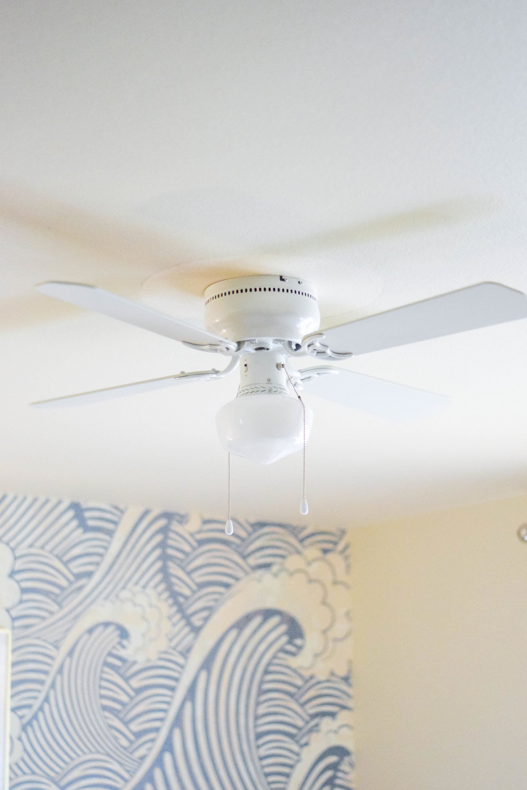 All White Ceiling Fan With Light From Wayfair