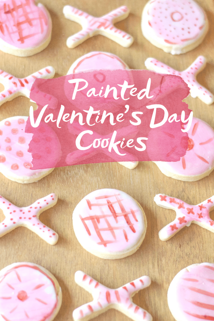 XOXO Painted Sugar Cookies For Valentine's Day