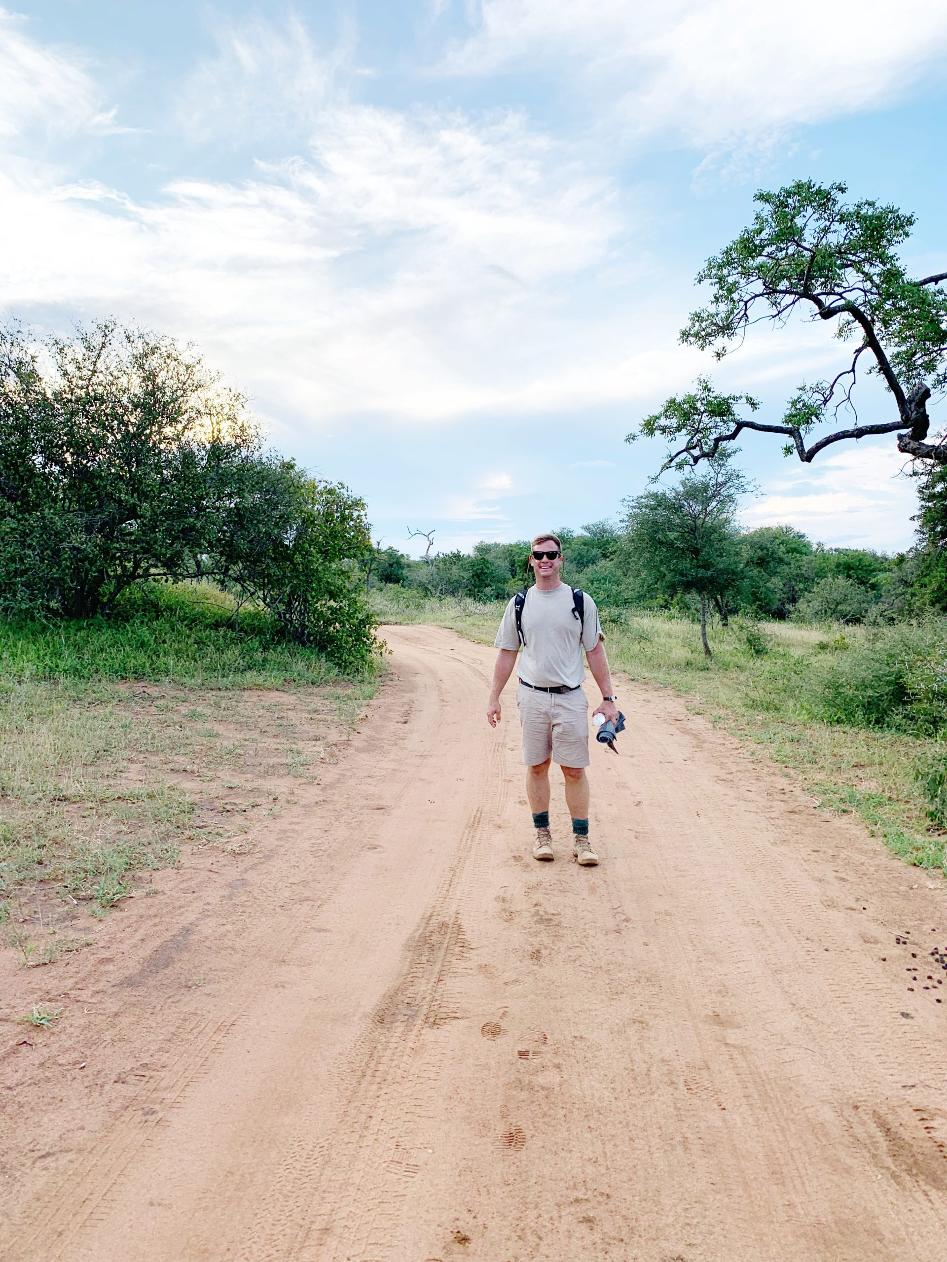Man hiking in South Africa