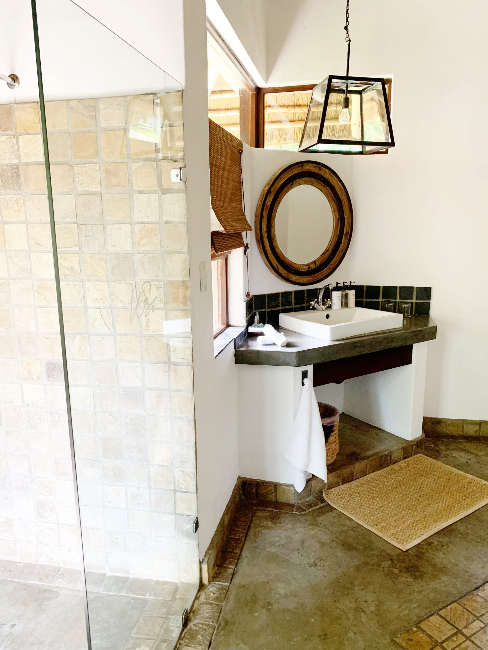 Safari lodge bathroom